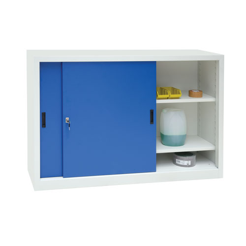 Manutan Wide Sliding Door Cupboard - 1000x1500x450mm