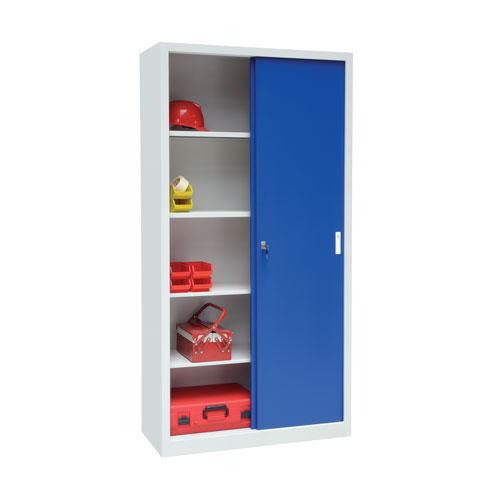 Manutan Large Sliding Door Cupboard - 2000x1500x450mm