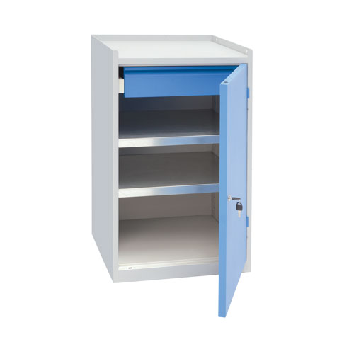 Manutan Single Drawer & Shelf Tool Cupboard - 915x533x500mm