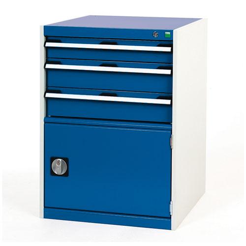 Bott Cubio Combi Cabinet Perfo Door 1 Shelf And 3 Drawers 900x650x650
