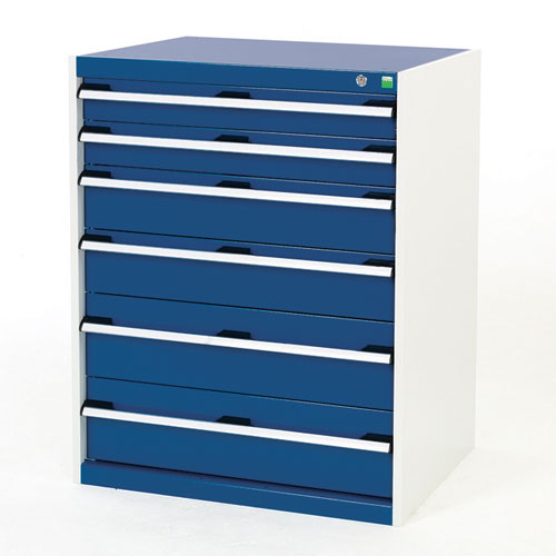 Bott Cubio Multi Drawer Cabinets For Tool Storage HxWxD 1000x800x650mm