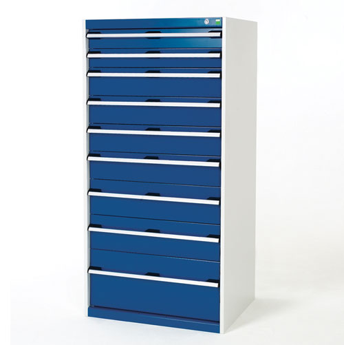 Bott Cubio Multi Drawer Cabinets For Tool Storage HxWxD 1600x800x650mm