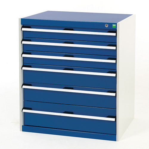 Bott Cubio Multi Drawer Cabinets For Tool Storage HxWxD 900x800x650mm