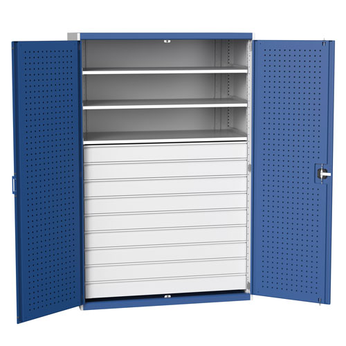 Bott Cubio Metal Multi Drawer/Shelf Tool Storage Cupboard HxW 2000x1300mm