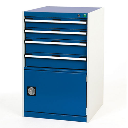 Bott Cubio Combi Cabinet Perfo Door 1 Shelf And 4 Drawers 1000x650x750