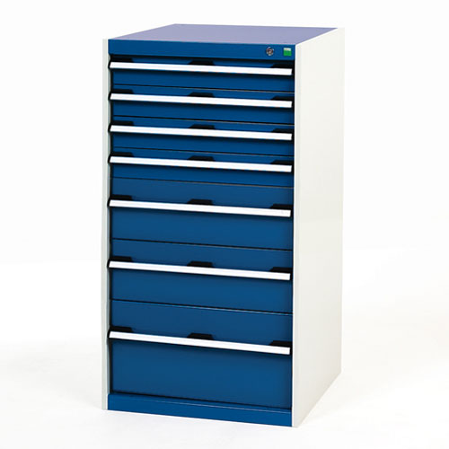 Bott Cubio Multi Drawer Cabinets For Tool Storage HxWxD 1200x650x750mm
