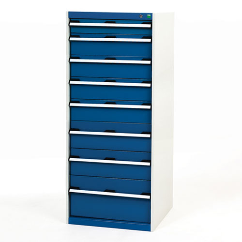 Bott Cubio Multi Drawer Cabinets For Tool Storage HxWxD 1600x650x750mm