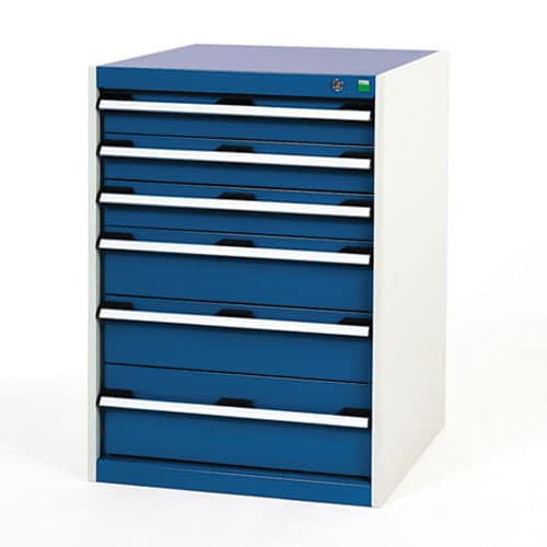 Bott Cubio Multi Drawer Cabinets For Tool Storage HxWxD 900x650x750mm