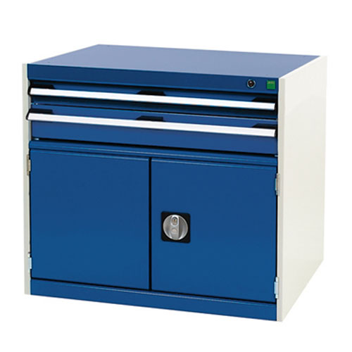 Bott Cubio Combi Cabinet Perfo Doors 1 Shelf And 2 Drawers WxD 800x750