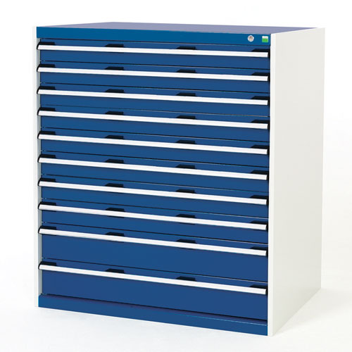 Bott Cubio Multi Drawer Tool Storage Cabinets HxWxD 1200x1050x750mm
