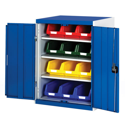 Bott Cubio Workshop Storage Cabinet With 12 Bins HxW 1000x800mm