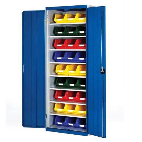 Bott Cubio Workshop Storage Cabinet With 27 Bins HxW 2000x800mm
