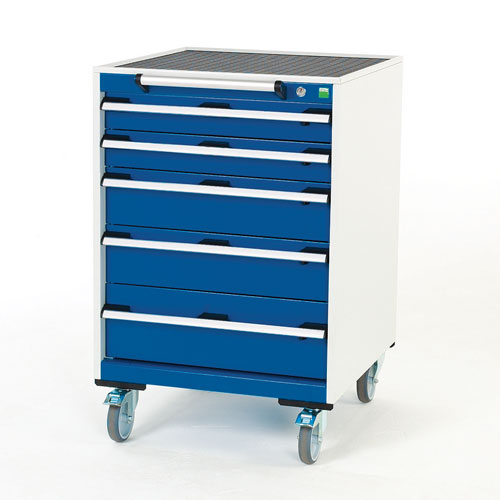 Bott Cubio Multi Drawer Mobile Tool Storage Cabinet 990x650x650mm