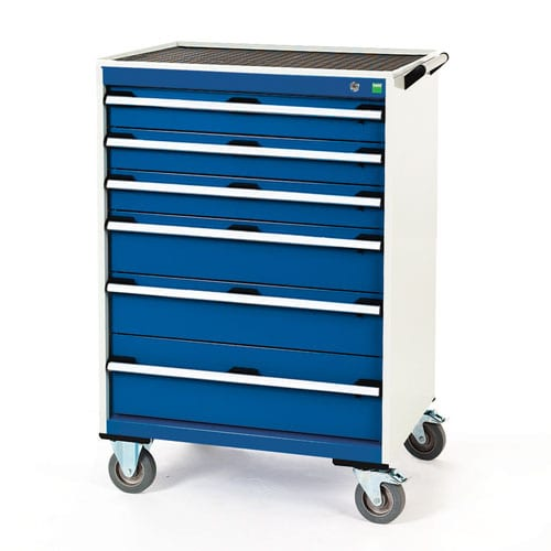 Bott Cubio Multi Drawer Mobile Tool Storage Cabinet 1090x800x650mm