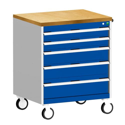 Bott Cubio Multi Drawer Mobile Tool Storage Cabinet 990x800x650mm
