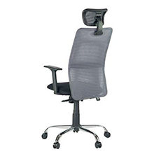 Stylish mesh office chair with grey backrest