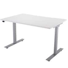 Silver Electric Height Adjustable Desk