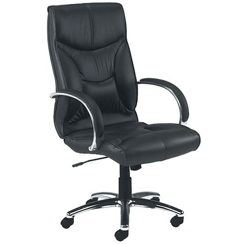 Tagus Black Leather Office Chair