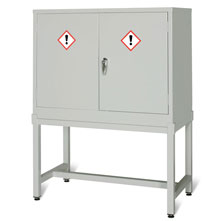 Grey Cabinet Shown on Stand