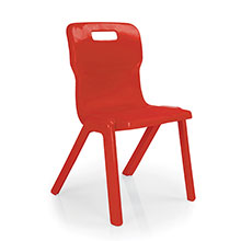 Red One Piece Chair