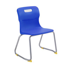 Blue Skid Base Chair