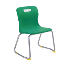 Green Skid Base Chair