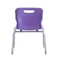 Purple Skid Base Chair