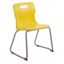 Yellow Skid Base Chair