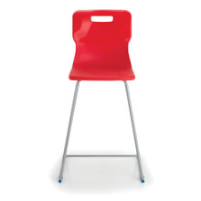 Red High Lab Chair