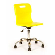 Yellow Swivel Chair