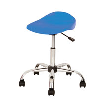 Blue Swivel Stool