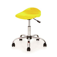Yellow Swivel Stool
