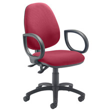 Stork High Back Operator Chair Red