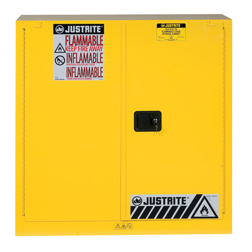 Justrite Self Close Flammable Storage Cabinet 1118x1092x457mm
