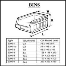 Bin specifications