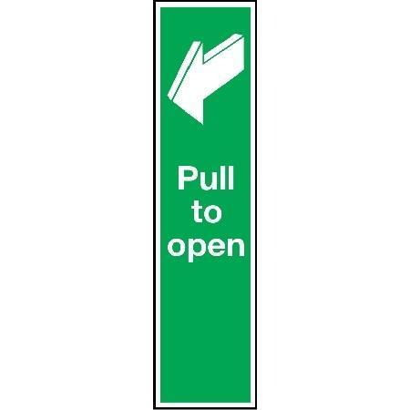 pull to open door sign signs amp id key