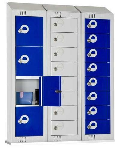 Personal Effects Lockers 8 Doors with Sloping Top - 990x250x160mm