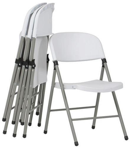 Lightweight Folding Plastic Chairs - Pack of 4