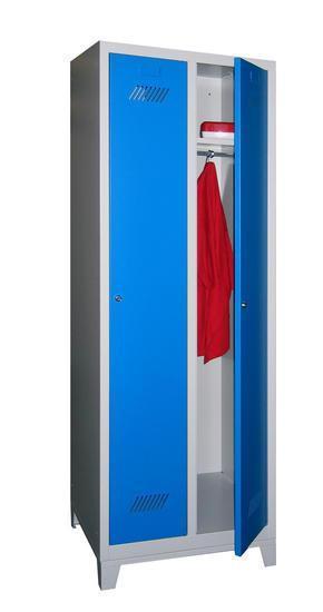 Lockers Nest of 2 with Feet - Single Door - 1850x630x500mm