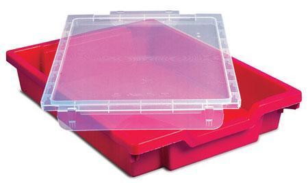 Clear A4 Lids for Storage Trays - Pack of 12