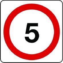 5 Mph Class 1 Sign