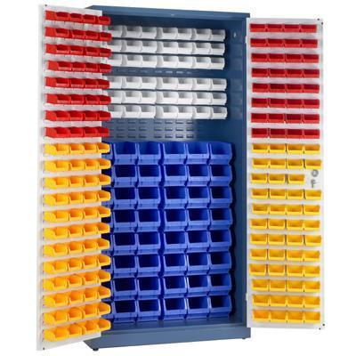 Small Parts Storage Cupboard With Picking Bins Key