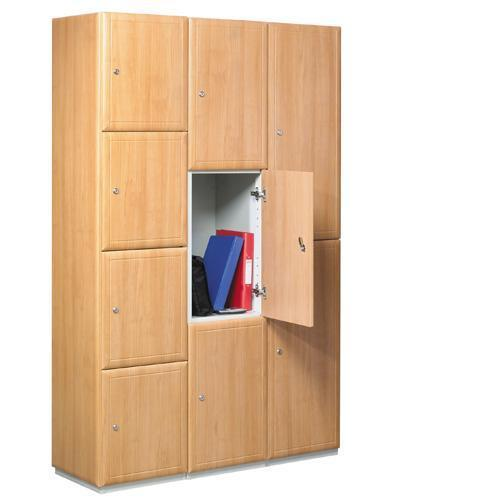 2 door lockers with wood effect doors 1800x300x450mm key for Wood lockers with doors