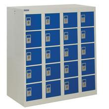 Lockers with blue door