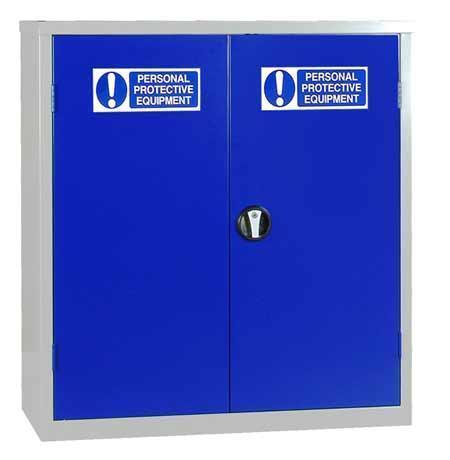 PPE Cupboard - Low Double Door Cabinet