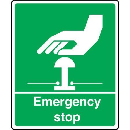 Emergency Stop Sign Green Signs Amp Id Key