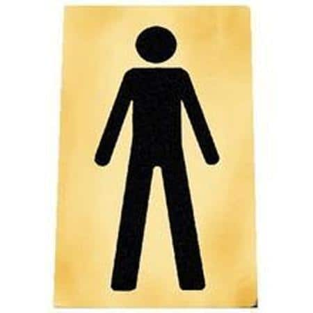 Male and Female Toilet Signs - Gold/Black or Silver/Black