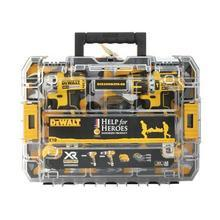 Help for Heroes DeWalt 18V Brushless Drill and Impact Driver Kit - DCK259M2TH