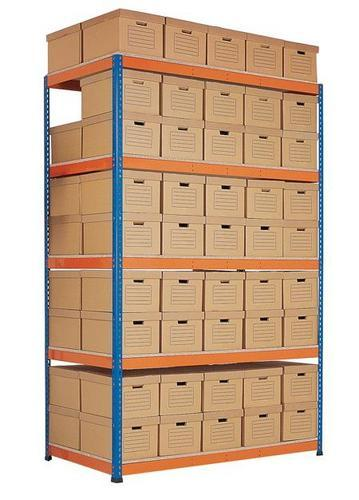 Rapid 1 Heavy Duty Double-Sided Shelving with Archive Boxes