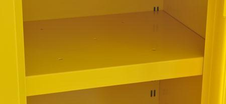 Yellow Additional Shelf For Flammable COSHH Cabinets